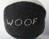 Recycled Denim Dog Squeaky Ball toy size small customizable