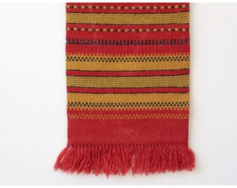 on SALE. Small kilim rug, kilim runner, woven wool tapestry, wall hanging décor 27X11'' 70-28cm