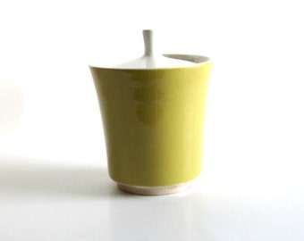 MIKASA  Japan Ceramic Yellow Container - Mid-Century