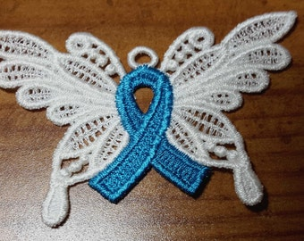 Custom awareness ribbon ornament