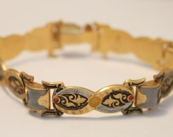 Vintage Toledo bracelet. Spanish bracelet.  Lucite bracelet