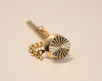 Vintage goldplated tie pin. Tie tack.