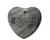 Leather Anniversary Personalized Gift Leather Heart Leather Flower Personalization 3rd Anniversary Gift For Him Third Anniversary  Key Chain