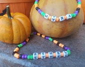 Halloween Fall Dog Necklace with Name- Custom Personalized Collar