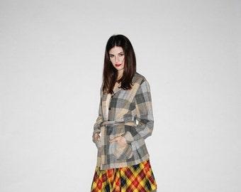 70% Off FINAL SALE - Vintage Plaid Coat  - - Vintage Pendleton Plaid Wool Coat - 60s Plaid Coats  - The Yale Bound Coat   - WO022