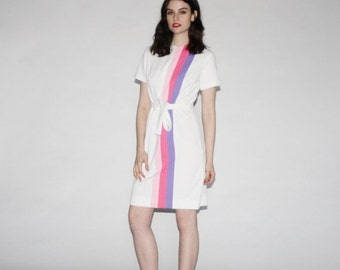 75% OFF FINAL SALE - Vintage Ombre Dress - Mod Tennis Dress  - The Country Club Dress   - Wd0160