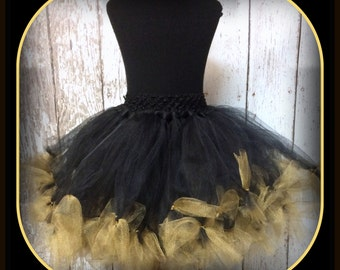 Black with Gold Petti Tutu - Fits Sizes 6 months-5T