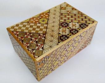 Japanese Puzzle box (Himitsu bako)- 6inch (150mm) Standard 10steps Yosegi