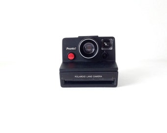 vintage 80s very RARE black pronto Sx-70 POLAROID camera