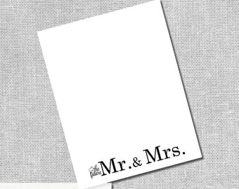 Future Mr. & Mrs. Note Card - Bridal Shower Thank You - Instant Downloand DIY Digital Files -  #00060-NCA2ID