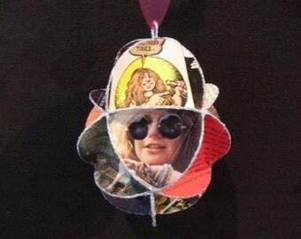 Janis Joplin Album Cover Ornament Made Of Repurposed Record Jackets