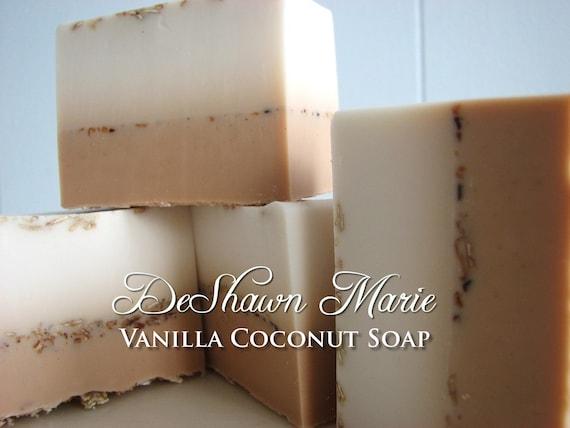 SOAP - 3LB Vanilla Coconut Vegan Handmade Soap Loaf, Wholesale Soap Loaves