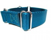 """Houndstown Banner Martingale Collar, 23 Colors, 1"""" Width, Nickel Hardware"""