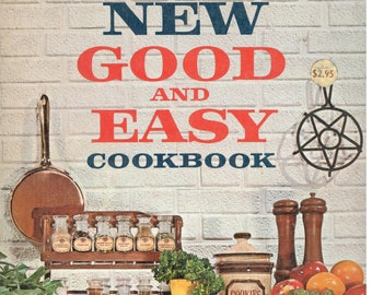 """SALE- Betty Crocker's Hardcover """"Good and Easy"""" Cook Book, Vintage Recipes, 1962 Cookbook 1st Edition, Vintage Cooking, Collectible Cookbook"""