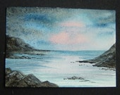 watercolour aceo art painting ref 308