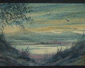 art painting miniature watercolour ace landscape ref 227