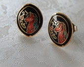 Unicorn Earrings, Pierced Earrings, Gift for Her, Mythical Horse