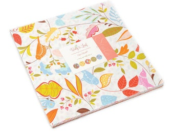 "Moda Cotton Fabric Layer Cake 10"" Fabric Squares Wing and Leaf Layer Cake"