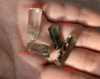 Free shipping wholesale 4 pcs Transparent Quartz pendant ,Transparent Quartz,lodolite Quartz Crystal Pendant ,Phantom Quartz pendant