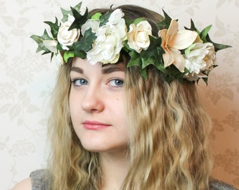 Large Floral Headdress With Lights