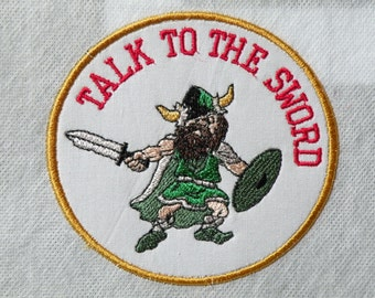 Talk To The Sword Iron on Patch