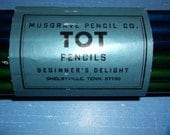 Pencils Set of 18 Musgrave Pencil Company TOT without erasers brand new Beginner's Delight NOS Shelbyville Tennessee Fat Pencils Kindergarte