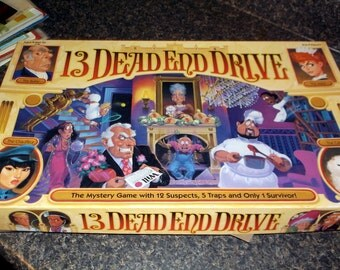 Vintage 1993 13 Dead End Drive Milton Bradley Game family game night travel beach house lake house family fun