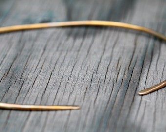 Simple Hammered Brass Choker. Reversible.