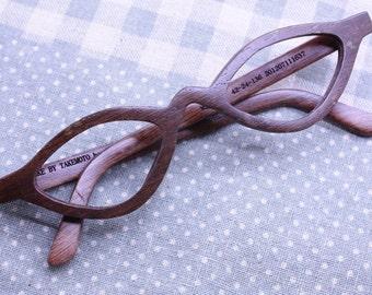 TAKEMOTO wenger wood  reading glasses prescription eyeglasses  customize MJX1203
