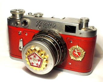 1958! Made in USSR FED-2 camera Russian Leica with -=Ready for Labor and Defense=-