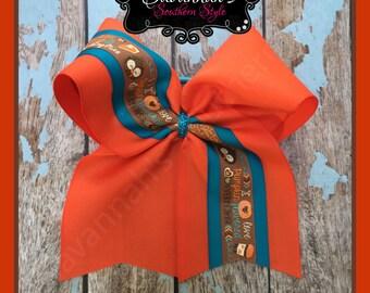 Love Pumpkin Cheer bow
