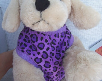 Purple Leopard Dog Harness