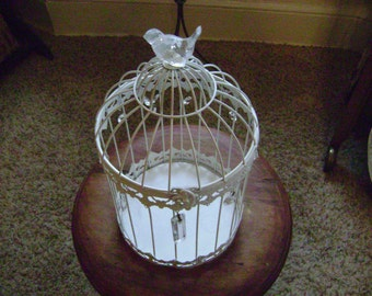 Bird Cage with Crystals