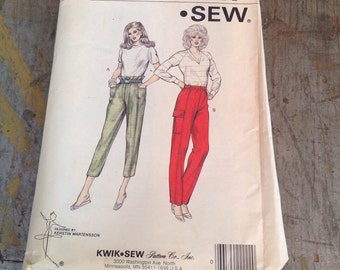 Vintage Kwik Sew Sewing Pattern 1382 Misses' XS S M L Pants