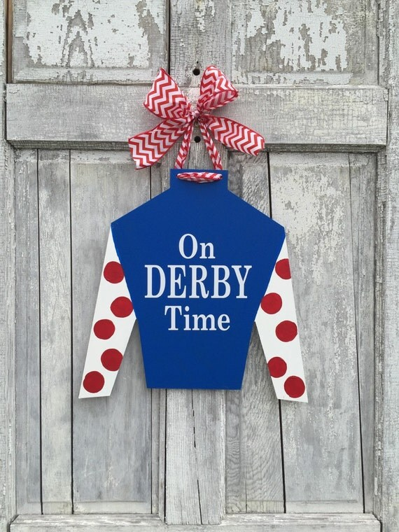 Derby door hanger, horse racing door hanger, horse farm door hanger, Jockey silk door hanger, Racing Silk door hanger