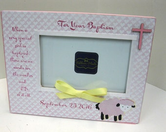 Baptism Frame with Poem and Cross