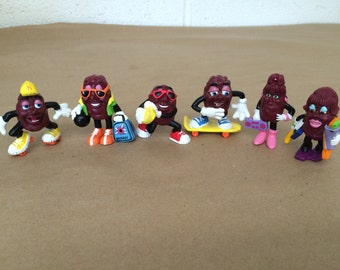 Set of 6 California Raisins