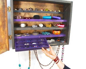 Purple jewelry storage