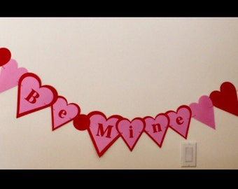 Valentines Day Banner - Valentine's Day love - valentines garland - valentines bunting banner - valentines day party decor- photo prop