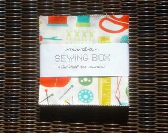 Sewing Box Gina Martin Charm Pack moda fabrics