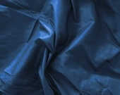 silk dupioni fabric - sapphire 100% pure silk - fat quarter sld047
