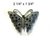 Rhinestone Butterfly Magnet Super Strong Upcycled Vintage Jewelry