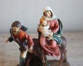 Vintage Santini Italy Style Jesus Mary and Joseph Nativity Figurine, Christian Christmas Decor, Catholic Home Decor, Virgin Mother Baby