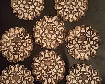 Stoneware Dia De los Muertos Coasters