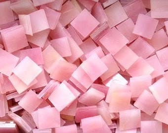 Light Pink and Yellow Stained Glass Mosaic Tiles