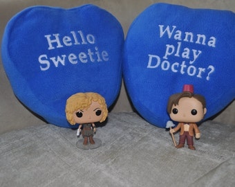Conversation Heart Pillows for your Whovian