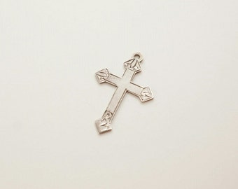 Vintage Sterling Cross Charm