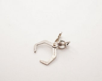 Vintage Sterling Movable Ice Tongs Charm