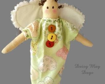 Primitive Angel Ornament, Christmas, Mobile, Home Decor, Baby Room, FREE SHIP
