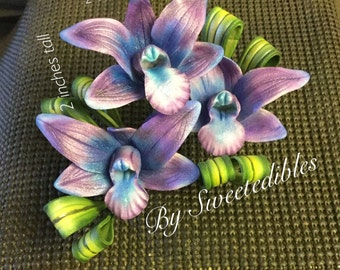 Ready to go Now Gumpaste Dendrobium Orchids Cake Topper